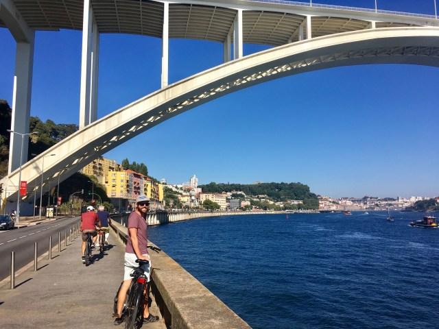 biking in porto