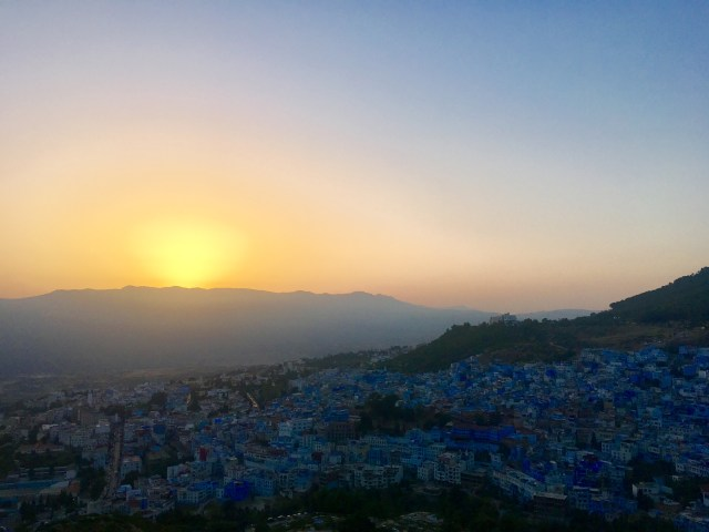 chefchaouen sunset morocco