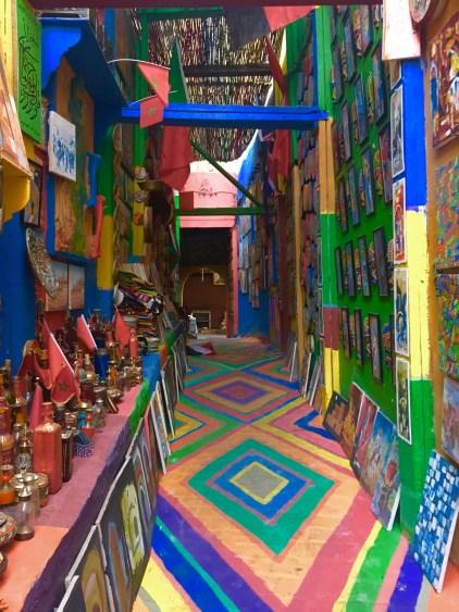 rainbow road fez morocco