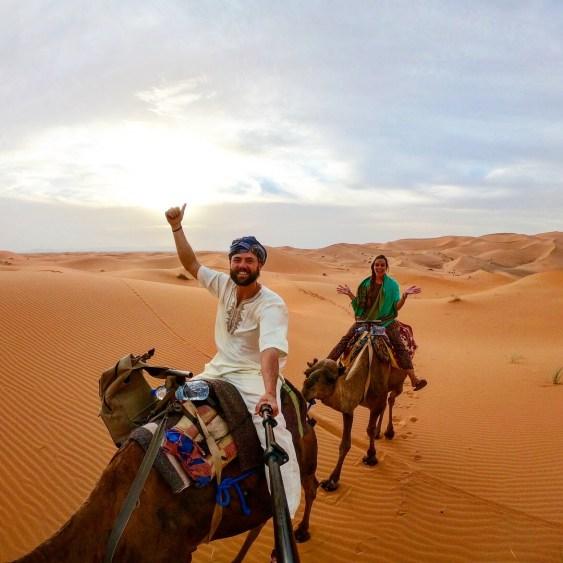 camel ride in sahara