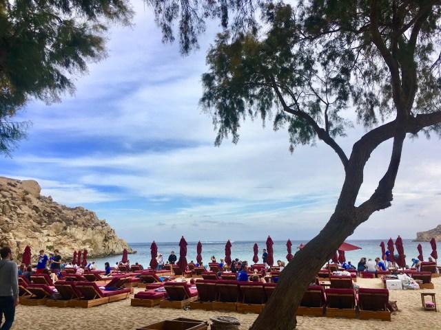 mykonos beach chairs
