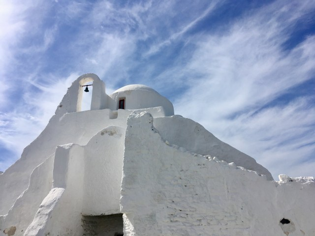 white church in mykonos