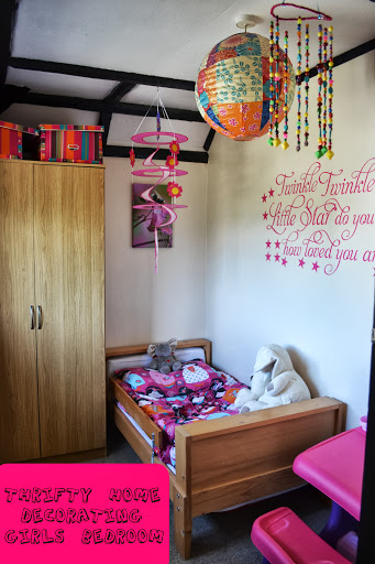 thrifty home decorating girls bedroom
