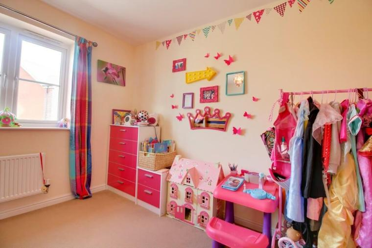 colourful girls bedroom