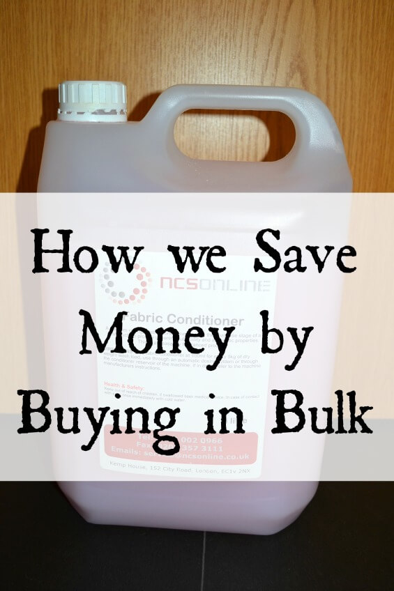 How we Save Money by Buying in Bulk