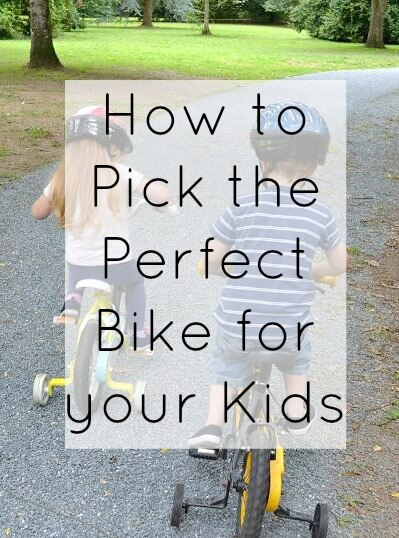 How to pick the perfect bike for your kids