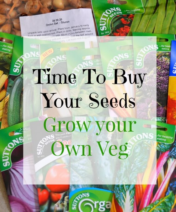 Time to buy your seeds - Grow your own veg with Sutton Seeds