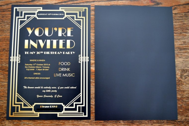 Gatsby Party Invites