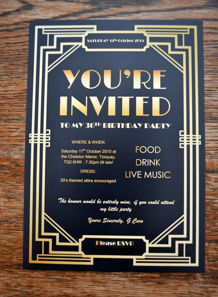 Gatsby Party Invites - Gypsy Soul