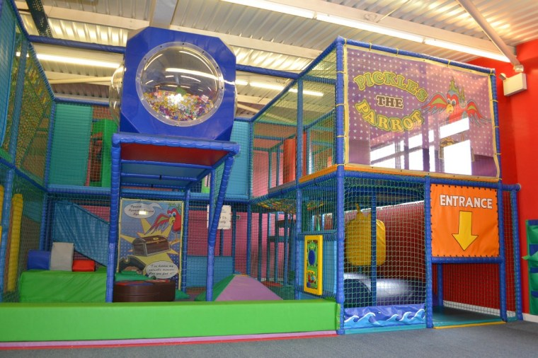 The soft play at Ladram Bay Holiday Park