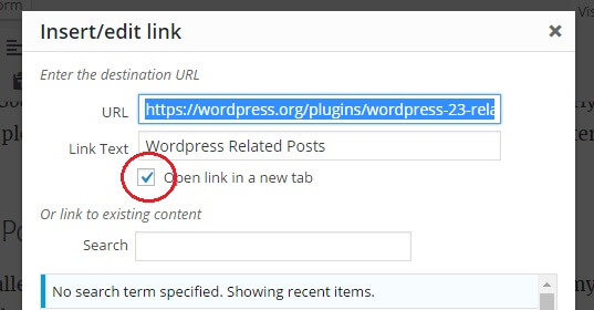 edit links in WordPress