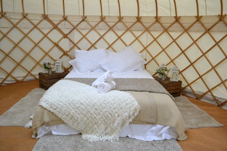 Yurt bedroom interior