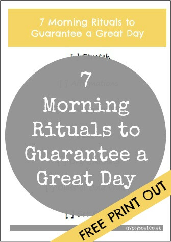 7 morning rituals free print out