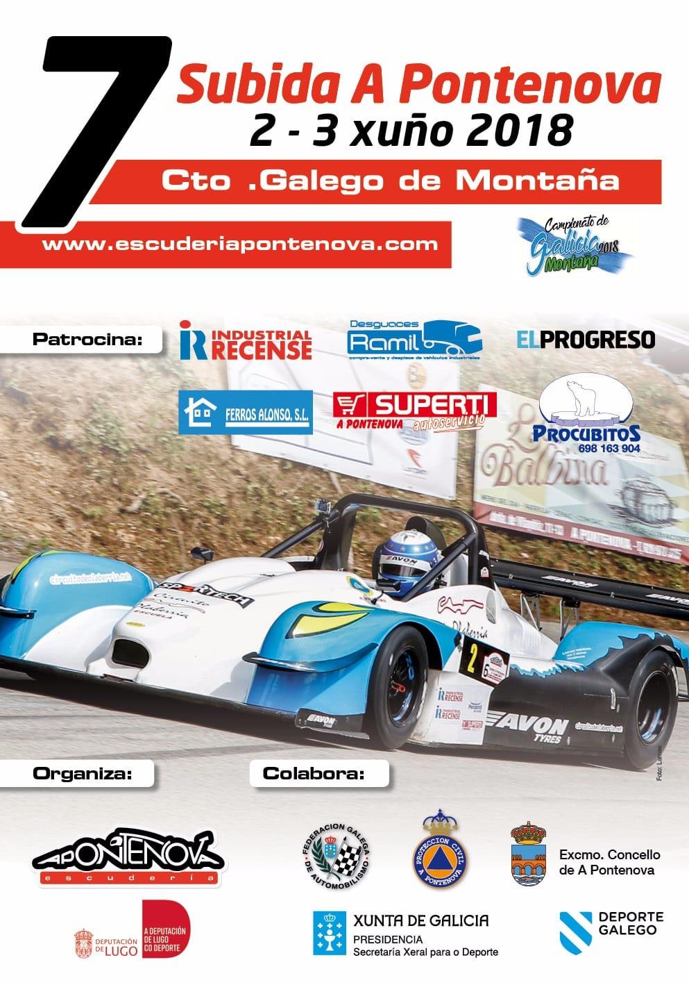 Campeonatos de Montaña Nacionales e Internacionales (FIA European Hillclimb, Berg Cup, MSA British Hillclimb, CIVM...) - Página 12 SubidaAPontenova2018_Cartel