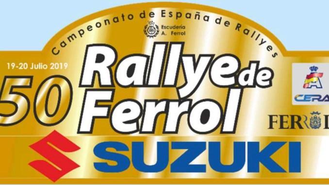 Placa Rally de Ferrol 2019