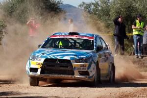 Gustavo Sosa y Alejandro López en el Rally de Granada 2018