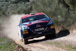 Jan Solans y Mauro Barreiro en el Rally de Granada 2018