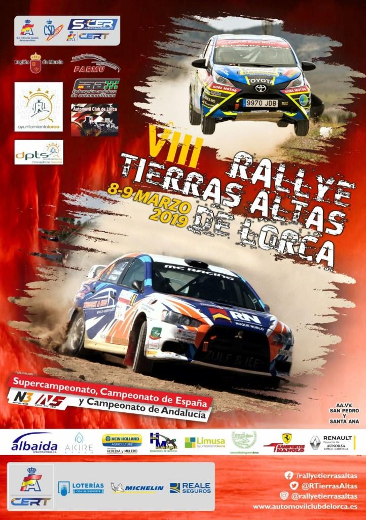 Cartel Rally Tierras Altas de Lorca 2019