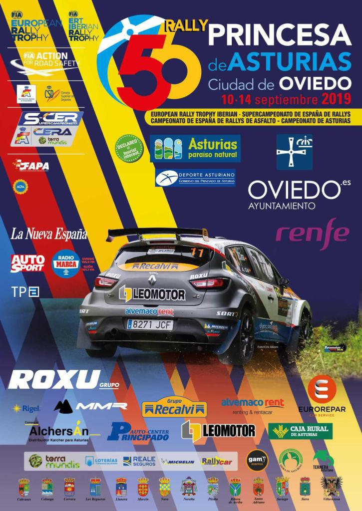 Cartel 56 Rally Princesa de Asturias 2019