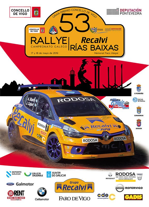 Cartel Rally Rias Baixas 2019