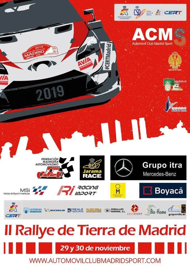 Cartel Rally de Madrid de Tierra 2019