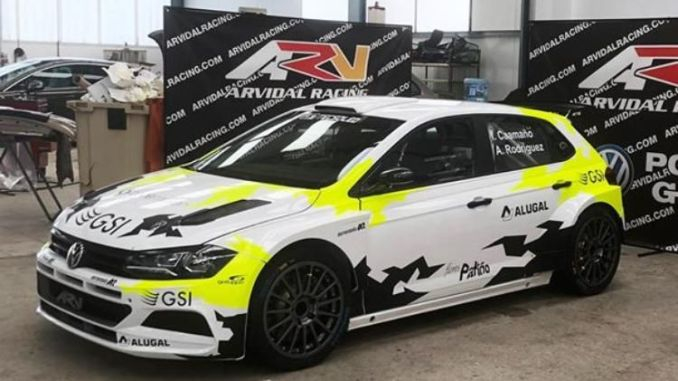 Iago Caamaño con el Polo R5 en el Rally Mariña Lucense 2019