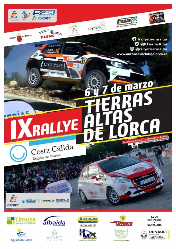 Cartel Rally Tierras Altas de Lorca 2020