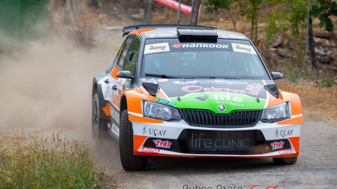 Luis Vilariño en el Rally de Ourense 2020