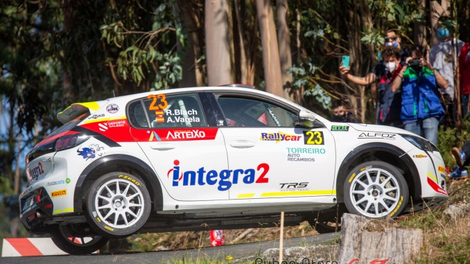 Roberto Blach en el Rally de Ferrol 2020