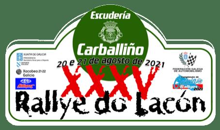 Placa Rally do Lacon 2021