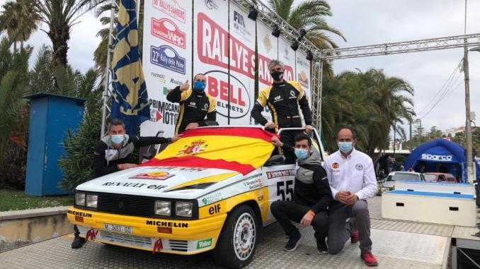 Javier López, Álex Cid, Carlos Sampayo, David Ferrer y Jesús Miguel Varela, el Aukor Racing al completo
