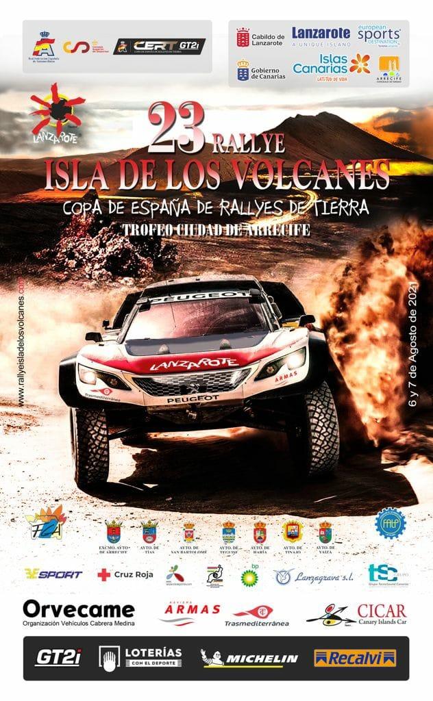 Cartel Rally Isla de Los Volcanes 2021