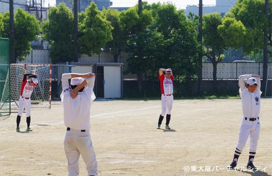 柔軟体操 06BULLS 若江中学野球部訪問