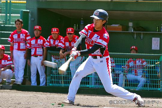 校長をキープしているイケメン上村。この日の3安打3打点と大活躍