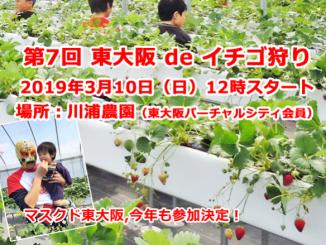 今年もやります!「東大阪 de イチゴ狩り」