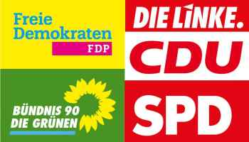 Logos of German political parties