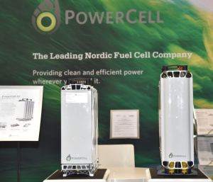 PowerCell stacks at the Hannover Fair 2019.
