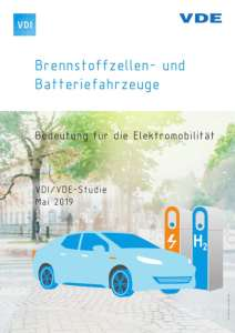 "Cover of the VDI/VDE study ""Fuel Cell and Battery Vehicles"""