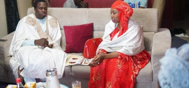 Visite de courtoisie de Sokhna Bousso, la femme d'Aliou Sall à l'association des jeunes marabouts Mbacké Mbacké