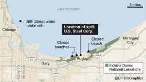 (U.S. Steel dumps more toxic chromium near Lake Michigan, faces lawsuit)