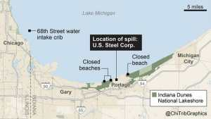 (U.S. Steel dumps more toxic chromium near Lake Michigan, faces lawsuit)