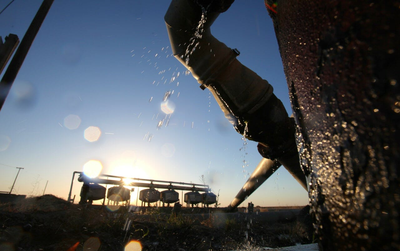 photo: irrigation in California. The Unanticipated Benefits of California's Water Policies