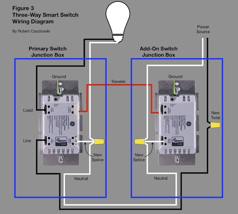 three-way smart switch wiring diagram - h2ometrics  h2ometrics