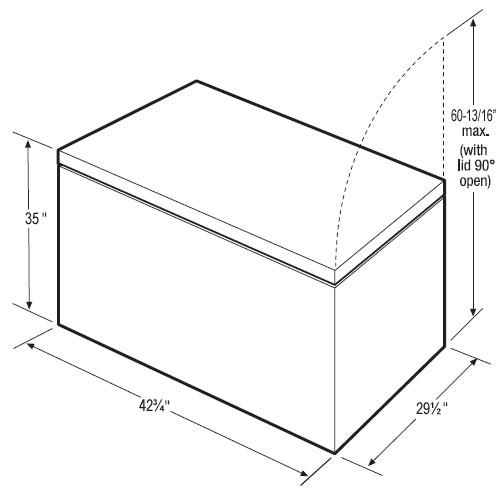 congelador horizontal 13 pies c u00dabicos marca frigidaire mod