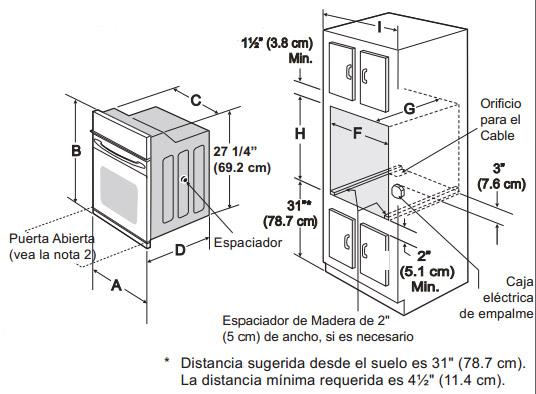 Horno el ctrico 30 professional de pared marca frigidaire for Instalacion cocina industrial
