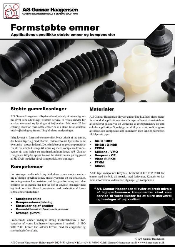 Formstøbte emner (Dansk)