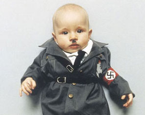 The artist's baby daughter dressed up as Hitler