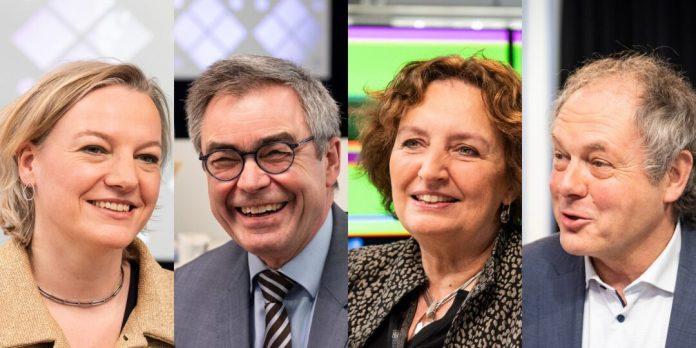 V.l.n.r burgemeesters Erica van Lente, Jos Wienen, Liesbeth Spies en Henri Lenferink. (c) Anna van Kooij / HUMAN.