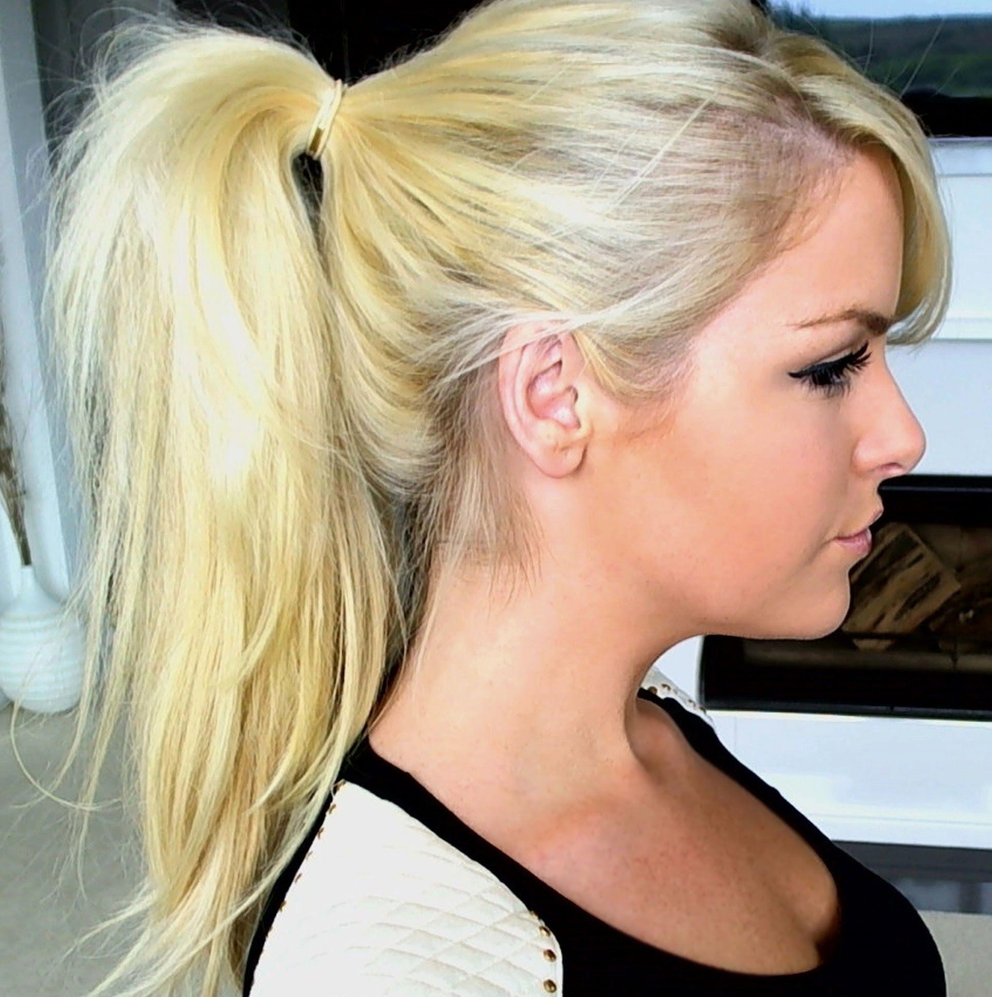 Hoge Paardenstaart Met Extensions Haarmode