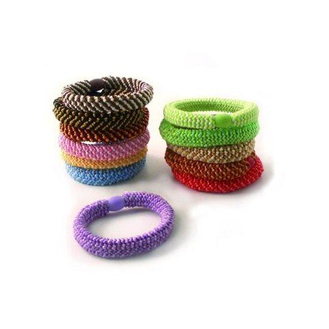 dickere Haargummis in zweifarben Sortiment
